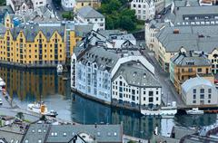 Alesund town (norway) Stock Photos
