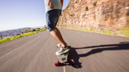 Stock Video Footage of Dude is riding his skateboard