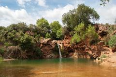 "waterfall ""pego do inferno"" - stock photo"