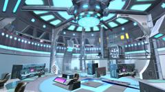 Tech controller & control station,Sci-fi universe Modern space scene. Stock Footage