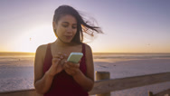 Stock Video Footage of Teenage girl using mobile phone