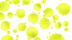 Falling tennis balls (with transition) Stock Footage