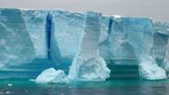 Stock Video Footage of Antarctica - Antarctic Peninsula - Tabular Iceberg in Bransfield Strait