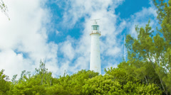 Gibb's Hill Lighthouse in Bermuda Amongst Lush Greenery - stock footage