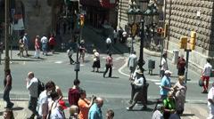 Tourists on Rambla, Barcelona, timelapse Stock Footage