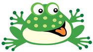 Stock Illustration of cartoon  frog toy