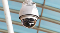 CCTV observing monitoring spying Stock Footage