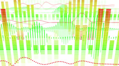 Equalizer audio waveform loopable background Stock Footage