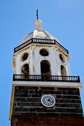 lanzarote  spain the old wall tower in teguise arrecife - stock photo