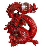 Antique orient red dragon Stock Photos