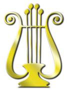 Isolated gold lyre Stock Photos