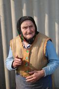 village sad elder sranny - stock photo