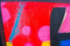 urban colorful picturesque graffiti fragment - stock photo