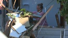 Goderich Ontario tornado damage Stock Footage