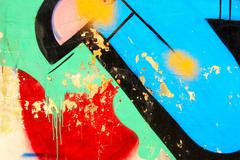 Urban colorful picturesque graffiti fragment Stock Photos