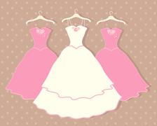 wedding dress - stock illustration