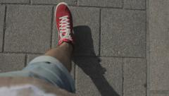 The guy going in red sneakers Stock Footage