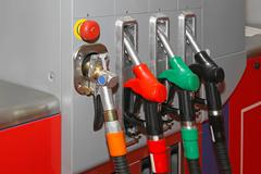 cng gas pump - stock photo