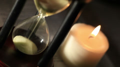 Hourglass with Candle Stock Footage
