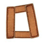 leather alphabet isolate on white - stock photo