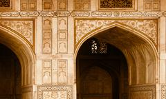 Exterior elements of building - arch. india, agra Stock Photos