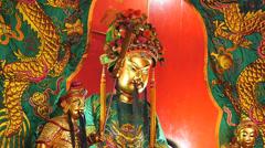 Kuala Lumpur Chinatown Quan Di Temple statue Malaysia Asia Stock Footage
