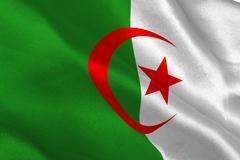 Algerian flag Stock Photos