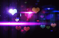 Stock Illustration of Cool nightlife design with hearts