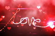 Stock Illustration of Digitally generated love background