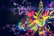 Stock Illustration of Digitally generated music background