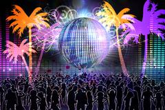 Stock Illustration of Digitally generated nightlife background