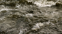 Rough dark choppy water moving - stock footage