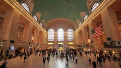 Commuter crowd people in Grand Central terminal station - stock footage