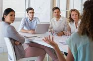Stock Photo of Casual business team having a meeting