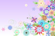 Stock Illustration of Digitally generated girly floral design