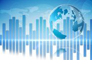 Stock Illustration of Global business graphic in blue