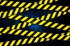 Stock Illustration of Yellow and black cordon tape