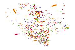 Stock Illustration of Many feathers blowing in the breeze