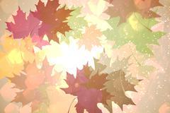 Stock Illustration of Autumnal leaf pattern in warm tones
