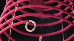 Kuala Lumpur Chinatown Quan Di Temple spiral incense hanging Malaysia Asia Stock Footage