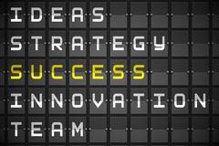 Success buzzwords on black mechanical board Stock Illustration