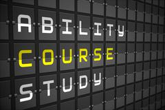 Course buzzwords on black mechanical board Stock Illustration