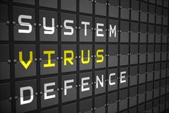 Virus buzzwords on black mechanical board Stock Illustration