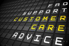 Customer care buzzwords on black mechanical board Stock Illustration