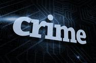 Stock Illustration of Crime against futuristic black and blue background