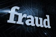 Stock Illustration of Fraud against futuristic black and blue background