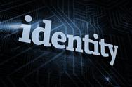 Stock Illustration of Identity against futuristic black and blue background