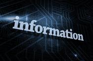 Stock Illustration of Information against futuristic black and blue background
