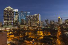 Midtown atlanta dusk Stock Photos