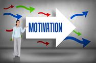 Stock Illustration of Motivation against arrows pointing